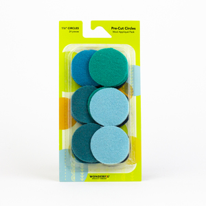Sue Spargo Pre-cut Wool Circle Pack SSPWC11/2-Teal