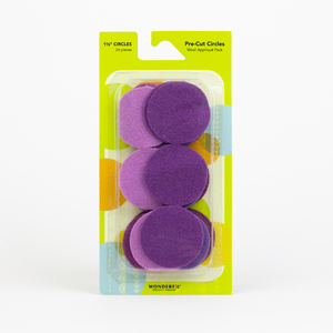 Sue Spargo Pre-cut Wool Circle Pack SSPWC11/2-Violet