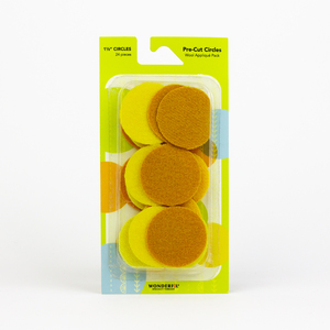 Sue Spargo Pre-cut Wool Circle Pack SSPWC11/2-Yellow