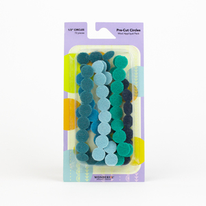 Sue Spargo Pre-cut Wool Circle Pack SSPWC1/2-Teal
