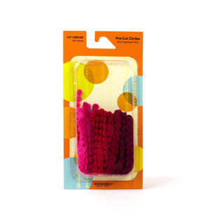 Sue Spargo Pre-cut Wool Circle Pack SSPWC1/4-Red