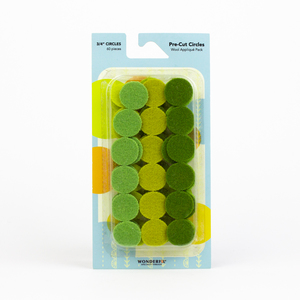 Sue Spargo Pre-cut Wool Circle Pack SSPWC3/4-Green