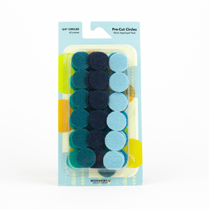 Sue Spargo Pre-cut Wool Circle Pack SSPWC3/4-Teal