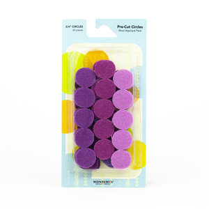 Sue Spargo Pre-cut Wool Circle Pack SSPWC3/4-Violet