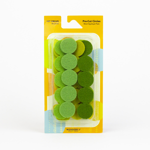 Sue Spargo Pre-cut Wool Circle Pack SSPWC7/8-Green