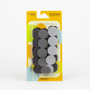 Sue Spargo Pre-cut Wool Circle Pack SSPWC7/8-Grey